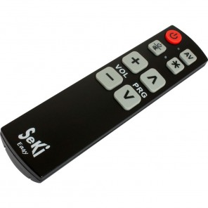Seki Easy schwarz lernfähige Universal Infrarot Fernbedienung für TV-Geräte, DVB-C-, DVB-S- und DVB-T-Receiver