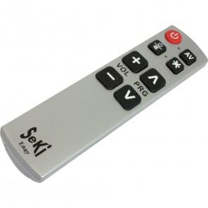 Seki Easy silber lernfähige Universal Infrarot Fernbedienung für TV-Geräte, DVB-C-, DVB-S- und DVB-T-Receiver