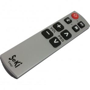 Seki Easy silber/schwarz lernfähige Universal Infrarot Fernbedienung für TV-Geräte, DVB-C-, DVB-S- und DVB-T-Receiver