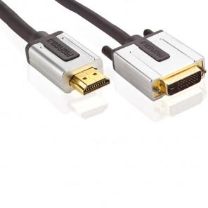 Profigold PROV 1105 (5,00 m) HDMI-A-Stecker auf DVI-D-Stecker in 5,00m Länge