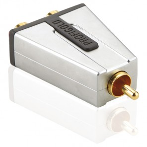 Profigold PROD 124 (0,00m/Adapter) Cinch-Stecker auf 2 x Cinch-Kupplung als Adapter