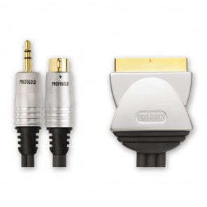 Profigold PGV 6705 S-VHS Kabel 5m | 3,5mm Klinke + S-VHS-Stecker auf Scart-Stecker