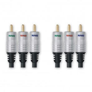 Profigold PGV 332 Komponentenkabel 1,5m | YUV-Kabel, 3xCinch-Stecker, vergoldet