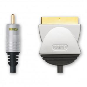 Profigold PGV 513 Videoanschlusskabel Cinch-Stecker auf Scart-Stecker vergoldet 3,00 Meter
