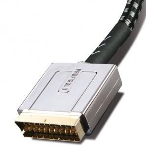 Profigold OXYV 7102 (2,00 m) Rundes Scartkabel SCART-Stecker auf SCART-Stecker in 2,00m Länge