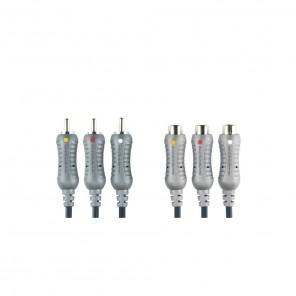 Bandridge VL5310 (1,50 m) 3x Cinch-Stecker auf 3x Cinch-Kupplung