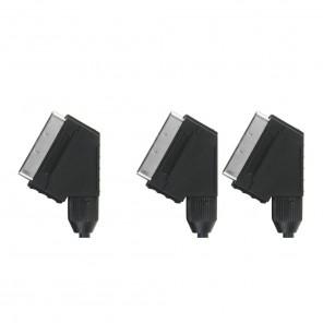 Bandridge VL7712 (1,50 m) Scart-Stecker auf 2x Scart-Stecker
