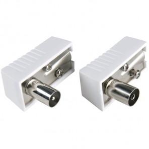 BANDRIDGE BPP 646 (Set) Je 1 Stück Koax-Stecker und Koax-Kupplung in 90° gewinkelter Ausführung