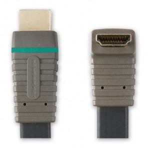 BANDRIDGE BVL 1335 (5,00 m) HDMI-A-Winkelstecker mit 90 Grad Winkel auf HDMI-A-Stecker in 5,00m Länge