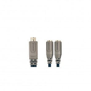 Bandridge CL83002X 6pin miniDIN Stecker auf 2x 6pin miniDIN Kupplung 0,15 m vergoldete Kontakte