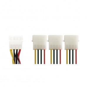 Bandridge CL09300 5,25 Zoll Stecker auf 3x 5,25 Zoll Kupplung 0,45 m vergoldete Kontakte