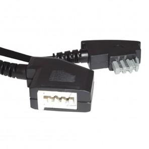 Bandridge TAL 3190 D Telefonkabel 10,0 m schwarz TAE-N-Stecker/TAE-N-Kupplung
