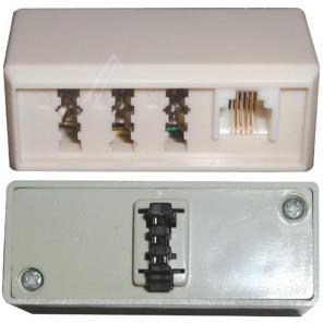 Bandridge TAP2000D (0,00m/Adapter) TAE-F-Stecker auf TAE-NFN-Kupplung + RJ11-Kupplung