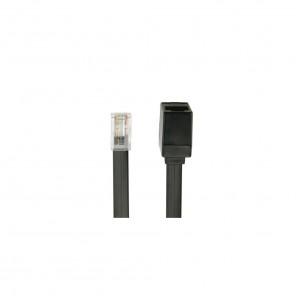Bandridge TAI 3060 ISDN-Kabel schwarz 6,0 m RJ45-Stecker auf RJ45-Kupplung vergoldete Kontakte