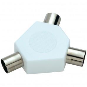 Bandridge TS030 (0,00m/Adapter) 2x Koaxial-Kupplung auf 1x Koaxial-Stecker