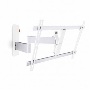Vogels WALL 2345 weiß TV-Wandhalter 40-65 Zoll | 3 Drehpunkte | 180 Grad drehbar | 20 Grad neigbar