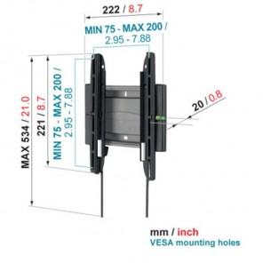 Vogels EFW 8105 Superflat Wandhalterung 19-27 Zoll 20mm Wandabstand