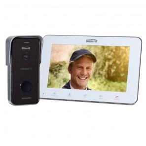 Marmitek DoorGuard 470 LCD Video Türsprechanlage mit 100 Grad Weitwinkel-Kamera und Bildspeicher