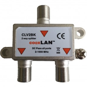 Ankaro CLV2BKS coaxLan 2-fach Verteiler,5-2400MHz,DC