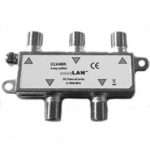 Ankaro CLV4BKS coaxLan 4-fach Verteiler,5-2400MHz,DC