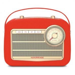 Nordmende Transita 130 rot DAB+ Radio 78-3006-03 | DAB+/UKW-Radio, Bluetooth-Audiostreaming, Dot-Matrix LC-Display