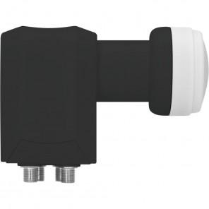 TechniSat Black Edition Quattro LNB 0000/8380 40mm | HDTV-, 4K-, 3D-tauglich, für den Multischalterbetrieb