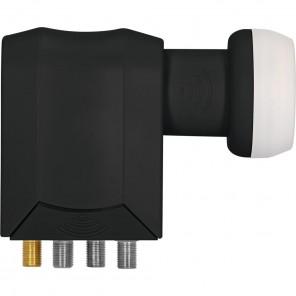 TechniSat 0000/8388 Universal SCR-LNB schwarz Unicable LNB, 4 + 4 Teilnehmer