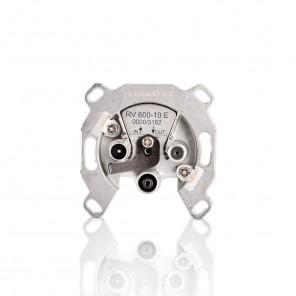 TechniSat RV 600-10 E 0000/3182 Sat-Durchgangsdose mit Überlast-Schutz und 10dB Dämpfung