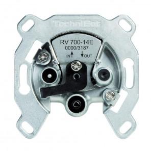 TechniSat  0000/3187 TechniPro RV 700-14E | Einkabel-Durchschleifdose 14 dB