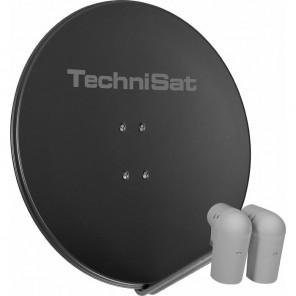 TechniSat  9708/8803 EutelAstraSat | grau, 2x Unysat V/H-LNB, DiSEqC