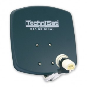 TechniSat DigiDish 33 grau V/H 1333/2194 | Sat-Antenne mit Single LNB