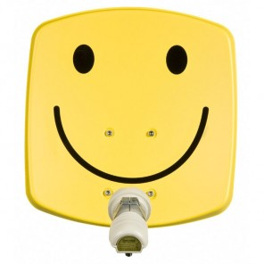 TechniSat DigiDish 33 smiley gelb V/H 1533/2194 | Sat-Antenne mit Single LNB