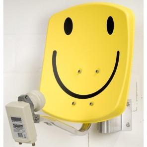 Technisat 1533/2882 DigiDish33,smiley gelb, Twin LNB