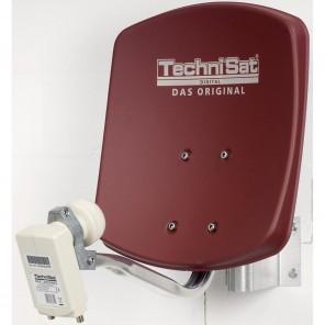 Technisat 1433/2882 DigiDish 33,rot + Univ.Twin LNB