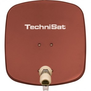 TechniSat DigiDish 45 rot V/H 1445/8194 | Sat-Antenne mit Single LNB