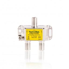 TechniSat 2-Wege-Verteiler 0000/3220 mit beidseitigem Spannungsdurchlass diodenentkoppelt