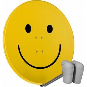 TechniSat  9708/8805 EutelAstraSat | smiley, 2x Unysat V/H LNB, DiSeqC