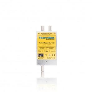 TechniSat TechniRouter Mini 2/1x2 0000/3289 | Einkabel-Multischalter für 2 Teilnehmer