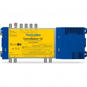 TechniSat TechniSelect 12 | Einkabelmultischalter,4 Receiverausgänge/Sat-Stämme