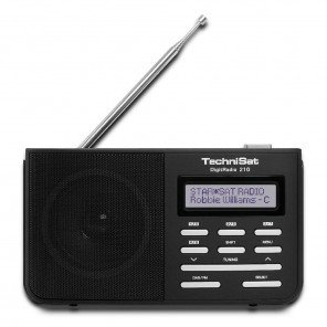 TechniSat DigitRadio 210 schwarz/silber 0000/4961   portables DAB+/UKW-Radio