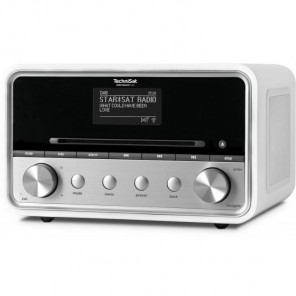 Technisat  0001/4977 DigitRadio 580 | weiß, DAB+/UKW/Internet, MP3-CD-Player