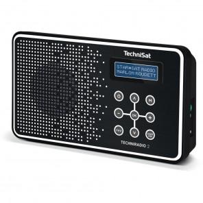 Technisat  0001/4965 TechniRadio 2 | schwarz/weiß, portabel, DAB+/UKW