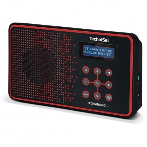 Technisat  0002/4965 TechniRadio 2 | schwarz/rot, portabel, DAB+/UKW