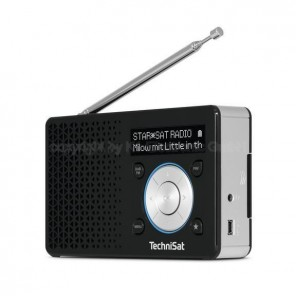 Technisat  0000/4997 DigitRadio 1 schwarz/silber, DAB+/UKW, OLED-Display
