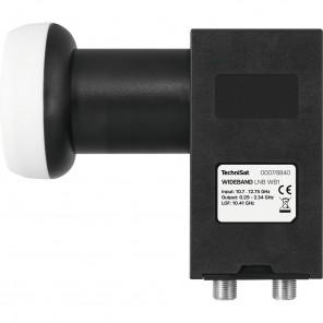 TechniSat WB1 Wideband LNB 0007/8840 40mm schwarz | LO-Frequenz: 10,41 GHz, HDTV-, 4K-, 3D-tauglich