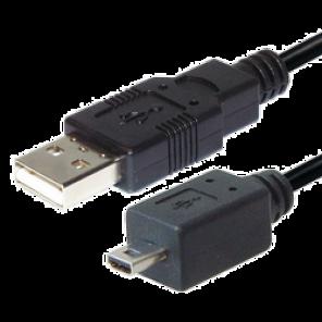 USB-Kabel 2,0m | USB-A-Stecker auf 8 pol. Mini USB-Stecker, schwarz, 2 Meter