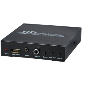 CS30A Scart + HDMI auf HDMI Konverter mit Upscaler konvertiert 480I (NTSC) / 576I (PAL) Format in 720