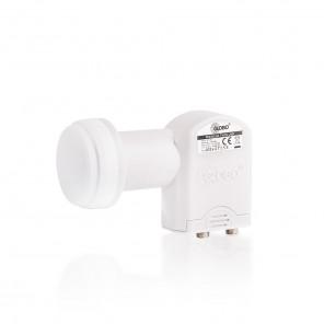 Opticum LTP-04H Premium Twin LNB 2 Teilnehmer Direkt | 0,1 dB, Full-HD, UHD, 3D