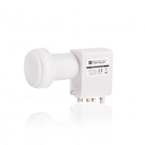 Opticum LQP-04H Quad LNB   vergoldete Kontakte   FullHD und 3D fähig   0,1 dB