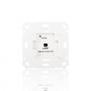 HomeMatic Funk-Wandsender 142237 HM-RC-2-PBU-FM 2-fach für Markenschalter Unterputzmontage